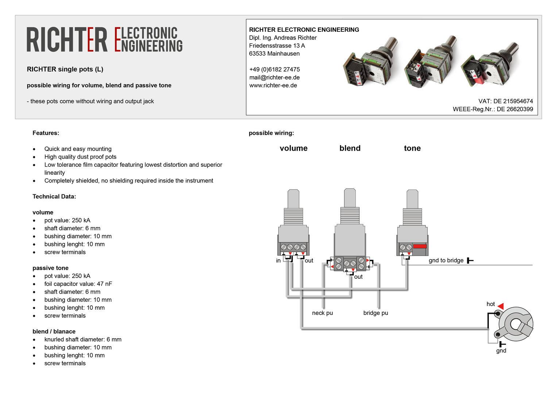 Amazing Richter Ee Blend Pot L Bassparts De Wiring Digital Resources Otenewoestevosnl